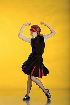Houston Ballet dancer: Jessica Collado. Ballet: Rooster. Choreographer: Christopher Bruce. Photo by Amitava Sarkar.