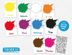 Visual Teaching Aid // Memory Game  Learning the colours in the reo maori