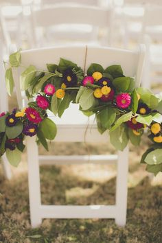 Beautiful garden chair decor for your #wedding | | Birds of a Feather Events