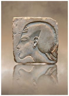 Ancient Egyptian relief portrait of King Akhenaten from Amarna. 18th Dynasty 1340 BC . | © Paul E Williams 2013