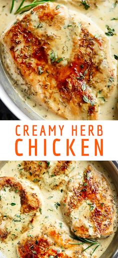 Quick And Easy Creamy Herb Chicken, filled with so much flavour, ready and on your table in 15 minutes! You won't believe how easy this is! - The ingredients and how to make it please visit the website Cheap Chicken Recipes, Easy Chicken Dinner Recipes, Easy Weekday Meals, Easy Meals, Crockpot Recipes, Easy Recipes, Rice Recipes, Vegetable Recipes, How To Cook Chicken