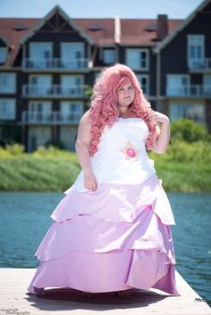 Rose Quartz from Steven Universe Cosplay http://geekxgirls.com/article.php?ID=7812