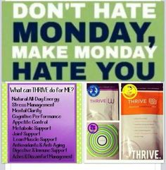 No more Monday Blues!!! Join my team for free and feel amazing!! Http://karlasummers.le-vel.com/