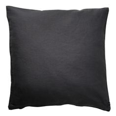 black linen cushion cover