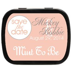 Perfectly Peach Personalized Save the Date Mint Tins, great as and favors! Wedding Party Favors, Wedding Invitations, Engagement Favors, Edible Favors, Mint Tins, Personalized Party Favors, Save The Date, Dating, Peach