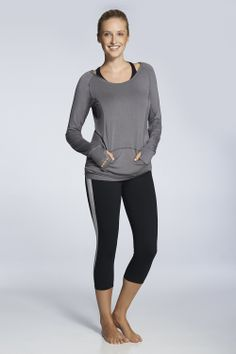 Let's get physical! Whip yourself into shape in these 4-way stretch pants and capris. Be the total package when you slip on the light, breathable Loveland Hoodie, complete with lazy-day-perfect thumbholes.