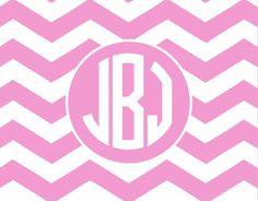 Have you printed one of our FREE personalized monograms yet?!? Available in lots of pretty colors :) #chevron #freeprintable