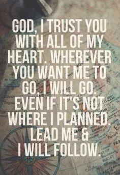 God I trust You...