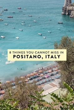 Heading to Positano, Italy/the Amalfi Coast & wondering what to do? I have narrowed down my list to 8 things you absolutely cannot miss! The best off-the-beaten-path things to see, do, eat, & drink
