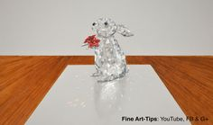 How to Draw a Crystal Rabbit, Swarovski Style - With a 3D Effect  #drawing #art #FineArtTips #crystalrabbit #Swarovski #textures #glass #artistleonardo #tutorial #LeonardoPereznieto Take a look to my book here: http://www.artistleonardo.com/#!ebooks-english/cswd