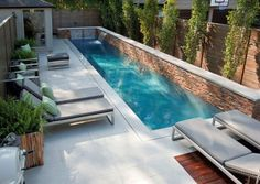 small pool ideas for narrow space