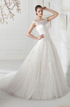 Vrij Tule Applique Bruidsjurk Fara Sposa 5211 2013