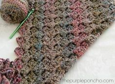 Crochet Corner-to-Corner Throw With Rope Edging By Carolyn - Free Crochet Pattern - (thepurpleponcho) by Vicky Jones kjPFg