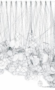 Jacob Hashimoto | Silent Rhythm (detail), 2011