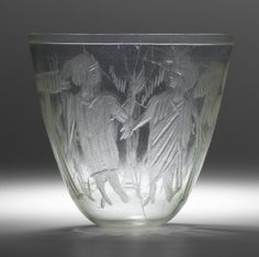 Cup with Wheel-Cut Decoration: Raising of Lazarus 4th century A.D. Culture: Roman, German, probably Cologne. Period: Roman-Byzantine, 4th century A.D. | Copyright © 2015 The Yale University Art Gallery
