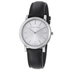 @Overstock - Britain's leading fashion brand known with their check design patterns was founded by Thomas Burberry in 1856, and is loved by many celebrities around the world. This timepiece features a stainless steel case, silver dial and a black leather strap.http://www.overstock.com/Jewelry-Watches/Burberry-Mens-Slim-Silver-Dial-Black-Leather-Strap-Quartz-Watch/6596104/product.html?CID=214117 $379.99