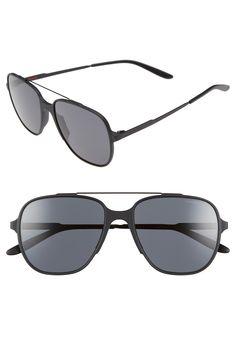Carrera Eyewear 55mm Aviator Sunglasses