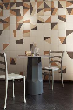 Indoor glazed stoneware wall/floor tiles TANGRAM - @bardelli