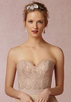 We <3 two-piece wedding dresses! This corset is perfect when paired with a tulle skirt!