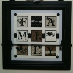 Wall decor project using Stampin' Up products and a Creative Memories frame.