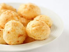Pao de Quejo!!!!! These little Brazilian cheese rolls are wonderful...Best snack EVER!