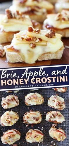 Brie, Apple, and Honey Crostini is the perfect way to start your holiday meal! These mini appetizers will be a crowd favorite and its so easy to make. In 15 minutes, you will be able to serve this delicious and beautiful finger food to your guests. How? Pin this recipe!