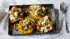 Roasted pepper with goats' cheese