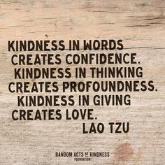 """Kindness in words c"