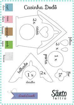 Carmela Caramella : Passarinho e sua Casinha - moldes