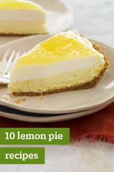 10 Lemon Pie Recipes – Our lemon pie recipes are second to none—but don't take our word for it! Try them yourself. We've got all kinds, from cream pies with berries to meringue-style and even easy pies crossed with cheesecake.