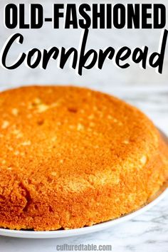 This rustic southern cornbread is baked in a cast-iron skillet for a crispy crumb. Serve this old-fashioned healthy cornbread with a bowl of chili for a hearty, wholesome meal! Buttermilk Cornbread, Homemade Cornbread, Sweet Cornbread, Healthy Cornbread, Cornbread Recipe From Scratch, Southern Cornbread Recipe, Cornbread Recipes, Cornbread Casserole, Cornbread Muffins