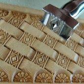 Leather Stamping Tool - Diamond Basket Weave Design