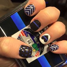 Customer share - Law Enforcement Love. #jamberry #jamberrynas #jamberrynails…