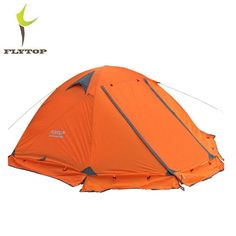 b8e0edcb89b FLYTOP Outdoor Camping Tent For Rest Travel 2 Persons 3 Double Layer  Windproof Waterproof Winter Professional