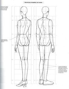 Libro de diseño de moda Fashion Figure Templates, Fashion Design Template, Fashion Design Portfolio, Fashion Design Drawings, Drawing Fashion, Fashion Poses, Fashion Art, Fashion Illustration Tutorial, Figure Drawing Reference