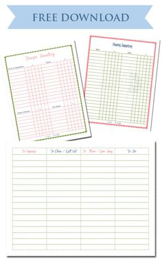 Printable Freezer Inventory List   I Printed It Out And