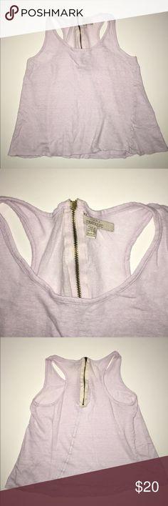 Zara lilac tank with zipper This is a shear tank. Very cute & a pretty zipper detail. Zara Tops Tank Tops