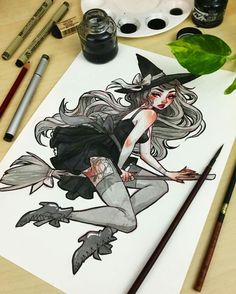 pin up witch by Jacqueline Deleon                                                                                                                                                                                 More