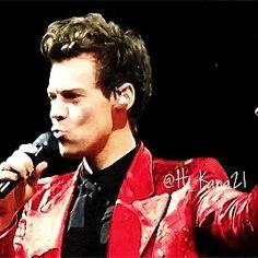 Harry Styles blowing raspberries. Never change, Hazz, never change