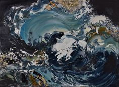"""'Maggi Hambling donated painting 'Wave"""", oil on board, 2012, Lot 49"""
