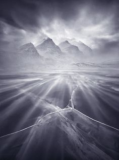 winds, blowing snow, clear ice, ice, glacier, alberta, icefields