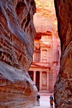 Petra, Jordan a carved housing out of rock, hidden and protected by the land scape. Oh The Places You'll Go, Places To Travel, Places Ive Been, Places To Visit, Vacation Destinations, Dream Vacations, Ends Of The Earth, Old Churches, To Infinity And Beyond
