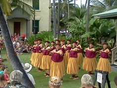 Hula performed in front of the Queen's Palace in Kailua-Kona during the monthly Kona Village Art Stroll