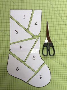 Make a patchwork Christmas stocking with left over Xmas fabrics or fat quarters…. Make a patchwork Christmas stocking with left over Xmas fabrics or fat quarters. Step-by-step tutorial.