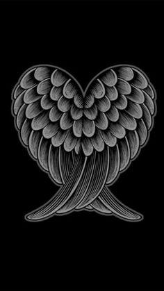 Heart With Wings Tattoo, Tattoo Angel Wings, Angel Wings Drawing, Angel Wings Art, Angel Wings Painting, Angel Tattoo For Women, Tattoo Hearts, Heart Tattoos, Tattoos Motive