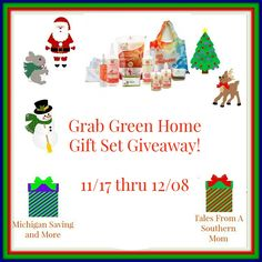 Grab Green Home Gift Set Giveaway 12/8 ~ Tales From A Southern Mom