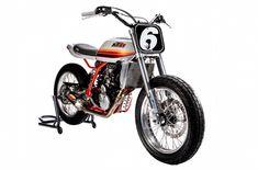 Duke of Hazard: KTM 640 Duke II Street Tracker – BikeBound Bmw Motorcycles, Custom Motorcycles, Dukes Of Hazard, Custom Street Bikes, Off Road Bikes, Flat Tracker, Ktm Duke, Alfa Romeo Cars, Bmw Series