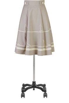 #eShakti sails ahoy high waist skirt