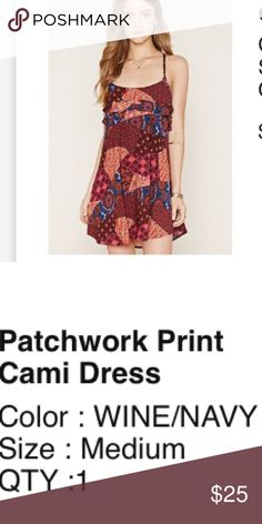 F21 NWT! Patchwork dress Medium Brand new with tags never worn or tried on . Forever 21 Dresses