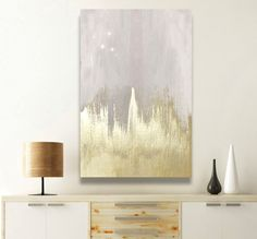 'Offwhite Starry Night' by Oliver Gal - Wrapped Canvas Graphic Art Print 'Offwhite Starry Night' Painting Print on Wrapped Canvas Diy Canvas Art, Diy Wall Art, Canvas Wall Art, Canvas Walls, Canvas Ideas, Wall Decor, Abstract Canvas, Diy Abstract Art, Neutral Canvas Art